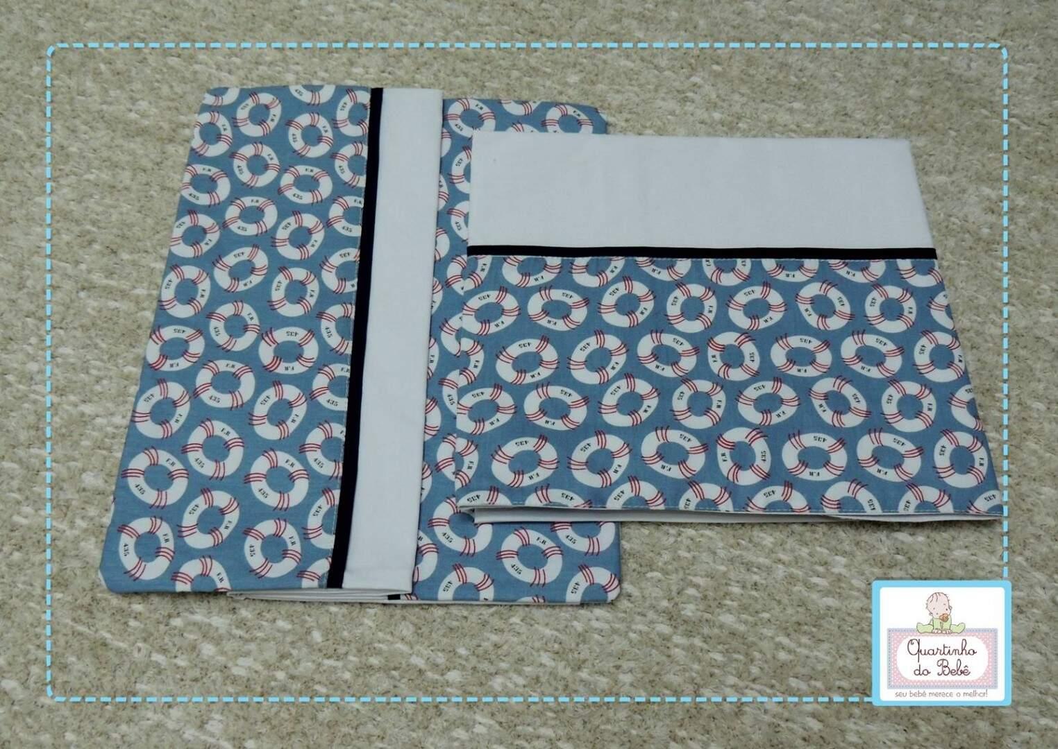 7fc4396fa Conjunto de Lençol para Carrinho Boia Vanessa Guimarães 1043420- 3 Peças