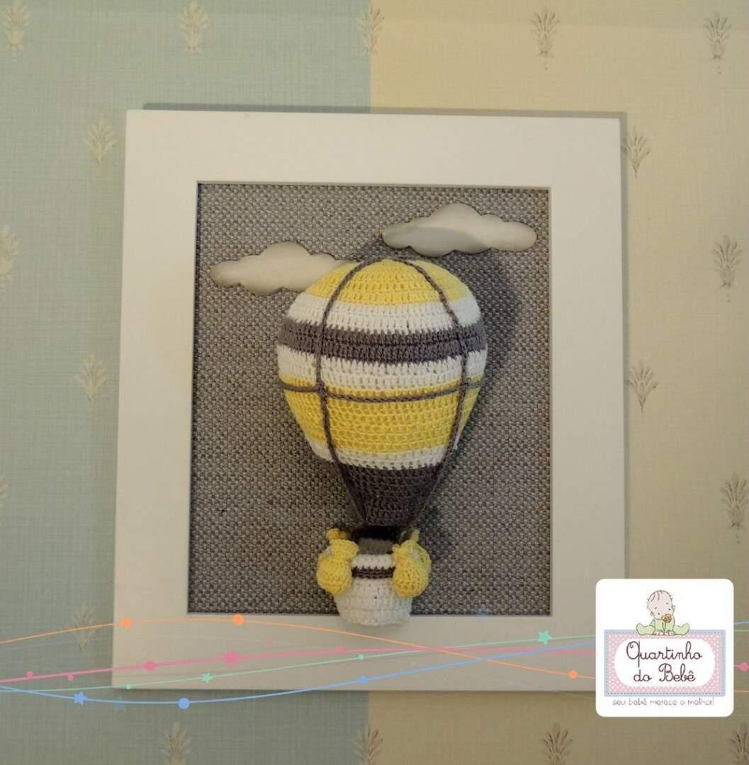 Quadro Porta Maternidade Ursinha Croche Amigurumi - R$ 190,00 em ... | 1080x1057